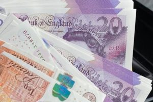 Fake British bank notes for sale